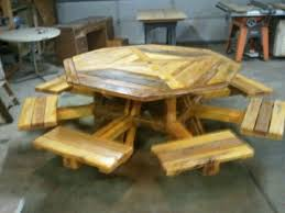 elegant lovable octagon wood picnic table diy eight seater