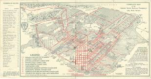 San Francisco On World Map by Historical Map San Francisco Market Street Transit Maps