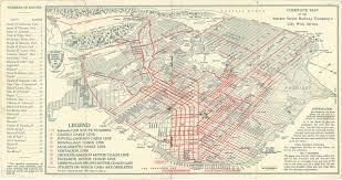 Map San Francisco by Historical Map San Francisco Market Street Transit Maps