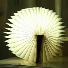 Book Paper Folding - led book shape light portable paper folding light book l table