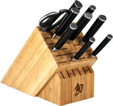shun dms1020 classic 10 piece chef u0027s block set knifecenter