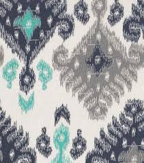 45 home essentials fabric ikat navy turquoise45 home fabric by the yard blue and grey fabric home decor fabric blue ikat fabric navy and grey fabric cotton fabric ikat