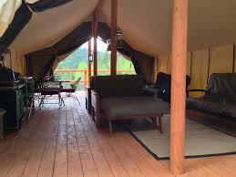 wall tent mores creek cabins wilderness cabins for rent