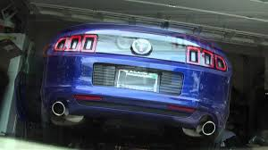 ford racing exhaust mustang v6 2014 v6 mustang stock exhaust vs ford racing sport axle back