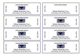 microsoft templates tickets