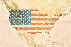 The Usa Map Highly Detailed Usa Map With The Us Flag Vintage Texture And