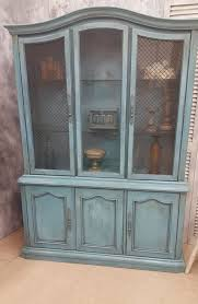 Broyhill China Cabinet Vintage Sale Now 20 Off Hand Painted And Distressed Vintage Stanley