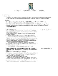 Nursing Internship Resume 16 Nov 24 Mft Intern Resume