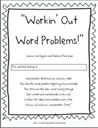 third grade common core math word problems workbook by cpat tpt