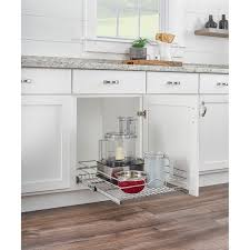 kitchen cabinet storage target rev a shelf 5wb1 1522cr 1 15 inch x 22 inch single wire