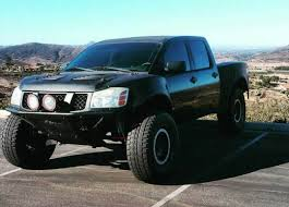 baja truck suspension nissan titan prerunner perfect base for a desert truck