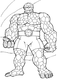 coloring pages of the avengers the things rock muscles coloring pages hellokids com