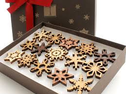 clearance mini wooden snowflake ornament gift box rustic handmade