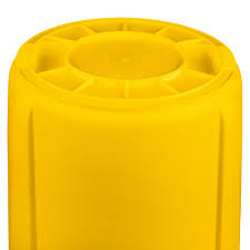 Yellow Wastebasket Rubbermaid Fg261000yel Brute Yellow 10 Gallon Trash Can