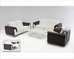 Contemporary Sofa Recliner Brown Leather Sofa Set W Electric Recliners 44l5978