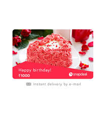 snapdeal birthday e gift card buy on snapdeal