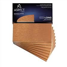 Amazoncom Aspect Peel And Stick Backsplash In X In Brushed - Copper tile backsplash
