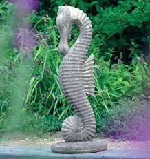 garden ornaments large seahorse statue sculpture co uk