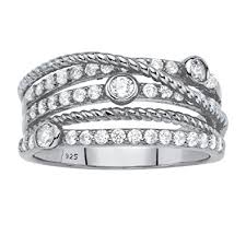 highway wedding band 925 sterling silver multi band crossover highway ring