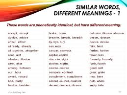 same words different meanings chapter 4 technical writing skills for support professionals ppt