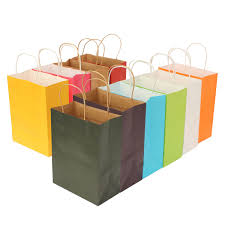present bags colorful paper party bags kraft with handle candy present bag