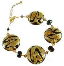 murano beads bracelet images Topaz discs venetian bead bracelet adjustable murano glass jpg
