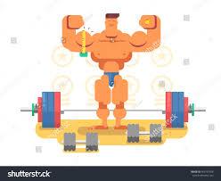 bodybuilder character flat stock vector 465797708 shutterstock