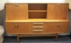 vintage retro g plan fresco teak veneer wall unit sideboard
