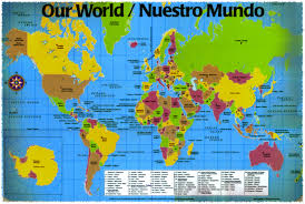 Map Of Workd World Map In Spanish Roundtripticket Me