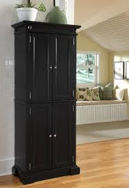 brilliant wooden pantry storage cabinets with black paint color