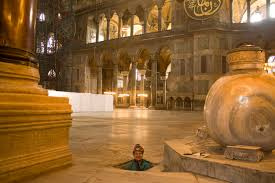 the wells in hagia sophia istanbul city tour blog