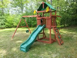 Heartland Swing Set Furniture Gorilla Playsets Mountaineer Deluxe Wooden Swing Set