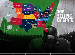 Nfl Usa Map by Top Selling Nfl Player Jerseys On Nflshop Com