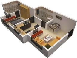 Two Bedroom Design Energy 600 Sq Ft Apartment 3d Square Design House Plan Arts