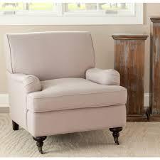 Coastal Accent Chairs Safavieh Chloe Taupe Linen Club Arm Chair Mcr4571b The Home Depot