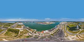 Port Canaveral Florida Map by Port Canaveral Aerial Panoramic