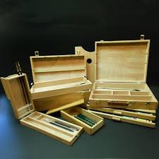 boxes cases for artists supplies and framing in