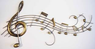 wall art metal wall art picture music notes score scroll