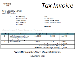 gst invoice template nz invoice example