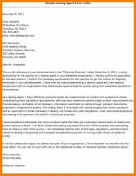 My Resume Agent Sample Cover Letter For Leasing Consultant