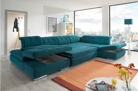 Microfiber Sectional Sofas Alpine Sectional Sofa Sleeper With Storage