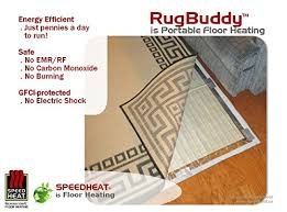 Heated Bathroom Rug Speedheat Rugbuddy 170w Rug Space Heater 4 10