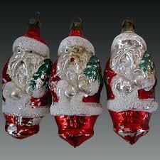 wine glass christmas ornaments glass santa ornaments vintage glass ornaments 4 blown wine
