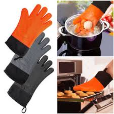 gant cuisine silicone 1paire gant anti chaleur silicone manique cuisson bbq mitaines outil