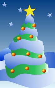 how to draw a cartoon christmas tree