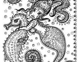 5 pages burlesque mermaids color coloring dance