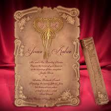 scroll wedding invitations scroll wedding invitation card creative personalized beautiful