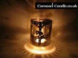silhouette carousel candle