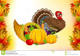 thanksgiving cornucopia with turkey stock vector image 26640163