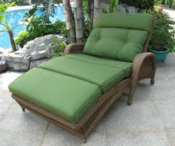Outdoor Wicker Chaise Lounge Doublechaiseloungeoutdoorfurnituregreen Outdoor Furniture Also